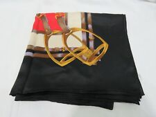 """100% Authentic Silk Scarf Equestrian Style 41"""" x 42"""""""