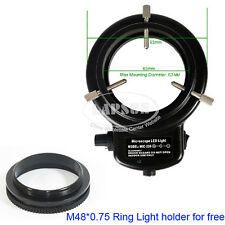 Adjustable 144 LED Bulbs 6500K Microscope Ring Light Lamp Illuminator AU US Plug