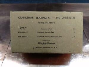 NOS Military Packaged OEM 1939-48 Ford Flathead Main Bearing Set .010 Undersized