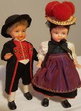 "Vintage Schildkrot Turtle Mark Celluloid German Dolls set 5 1/2"" Free Shipping"