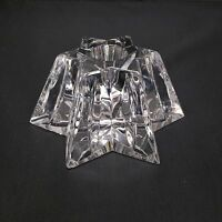 Waterford Crystal Star Shaped Candlestick Holder Chip On Bottom