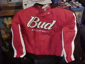 DALE EARNHARDTJR #8 BUSWEISER JACKET COAT MEDIUM BRAND NEW WITH TAGS NEVER WORN