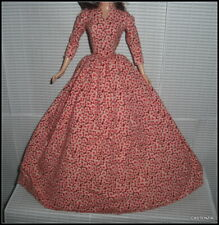 DRESS MATTEL BARBIE DOLL SILKSTONE CAROL BURNETT BOB MACKIE FLORAL EVENING GOWN