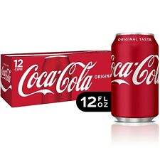 Coca-Cola Soda Soft Drink, 12 fl oz,Can's 24 Pack