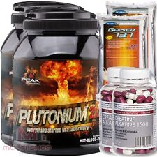 PEAK 2x Plutonium 2.0 1000g Pre Workout Trainingsbooster Muskelaufbau + BONUS !