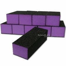 10xPurple Acrylic Nail Art Tips Buffer Buffing Sanding Block Files Manicure Tool