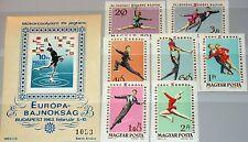 HUNGARY UNGARN 1963 1898-04 A Block 37 B 1484-91 Figure Skating Ice Dancing MNH