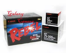 New Canon EOS Rebel T1i Camera With 3 Canon Lens Kit: EF 50mm f1.8II + EF 75-300