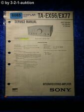 Sony Service Manual TA EX66 /EX77 Amplifier (#6085)