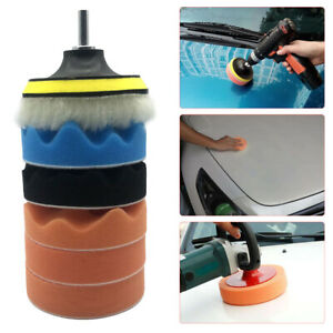 4 inch Car Polishing Pad Kit with M14 Drill Adapter for Car Polisher Power Tool