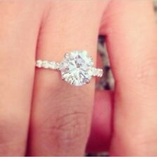 1.40 ctw Natural Round Cut Pave Diamond Engagement Ring - GIA Certified