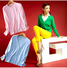 Women's V-Neck / Crewneck Cashmere Sweater Casual Cardigan Knitted Sweaters Tops