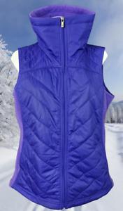 COLUMBIA  Women's Thin Puffer Vest Full Zip Collar Lavander  Size L