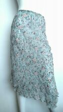 JIGSAW slip-on floral skirt size 10 --BRAND NEW-- knee length dip hem