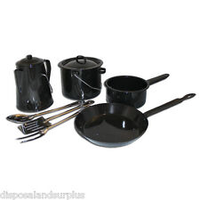 Ozark Trail 8pc Enamel Camping Cookware Set