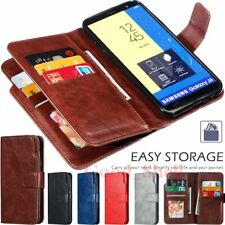 For Samsung J3 J5 J7 J8 J4 J6 Plus A21s Wallet Flip Card Slot Leather Case Cover
