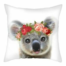 Cute Koala with flower crown Cushion Cover Animal Throw Pillow Cover Home Decor
