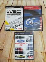 PS2 Lot Of 3 Games Bundle Gran Turismo 3, Ford Racing 3, World Rally Champion