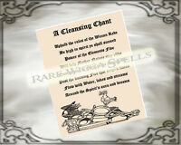 All Purpose Cleansing Chant Ritual Spell page for Wicca Book of Shadows Grimoire