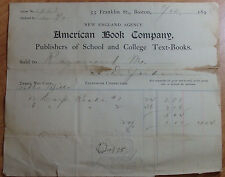 1898 AMERICAN BOOK COMPANY SCHOOL & COLLEGE TEXTS 55 FRANKLIN ST BOSTON MASS