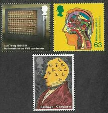 Computers/Computing-Turing-Babbage Paolozzie-Science (3)mnh Great Britain stamps