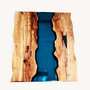 """48"""" x 36"""" Epoxy Table, dining, sofa, center table top Wood Epoxy Table Top"""