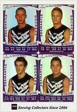 2011 AFL Teamcoach Trading Cards Silver Parallel Team Set Fremantle (11)