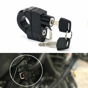 Motorcycle Universal Helmet Lock For 25mm Engine Crankcase Crash Bar Motorbike