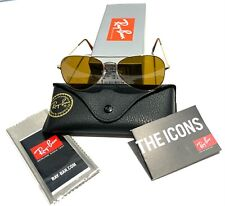 Ray-Ban Aviator RB3025 001/33 Brown Classic B-15 Lens with Gold Frame 55mm
