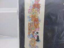 Janlynn BEARS BELL PULL Cross Stitch Kit w/Fabric & Thread NEW