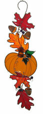 FALL SCROLL KIT Precut Stained Glass PLEASE READ DESCRIPTION Pumpkin Leaves 9822