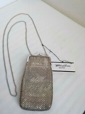 Whiting & Davis Silver Mesh Eyeglasses Or Cigarette Case With Long Chain W/Tag