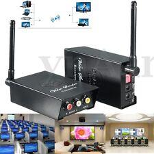 2.4GHz Wireless Audio Video AV TV Transmitter Ricevitore Sender 4 Caneli TV VCR