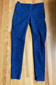 Athleta Chaturanga Blue Legging Pants Athletic Yoga Running Womens Size S