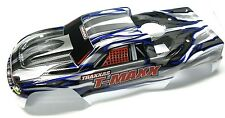 T-maxx 3.3 BODY shell (WHITE, SILVER & GREY extended prographix 4907 Traxxas