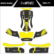 BURU WITH BURU EVO SIDE PODS FULL KART STICKER KIT REN F1 STYLE - KARTING -