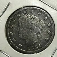 1884 LIBERTY NICKEL BETTER DATE  AND GRADE COIN