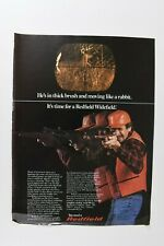 """Vintage 1980 """"You Need a Redfield"""" Rifle Scope Magazine Print Ad"""