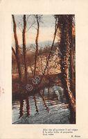 Cartolina - Postcard - Illustrata -  ruscello - Poesia Prina - 1916