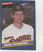 FREE SHIPPING-MINT-1986 Donruss San Diego Padres  #261 Mark Thurmond