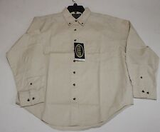 River's End Khaki Long Sleeve Button Down Men's Dress Shirt Size Small Style 603