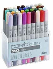 COPIC CIAO PENS 36 SET E - MANGA GRAPHIC ARTS + CRAFT MARKERS - FAST SHIPPING