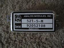 Analog Modules AC DC Adapter, Plug, Power Supply ? Laser  PN#- 521-5-M