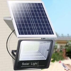 44/170 LED Solar Powered Outdoor Garden Spot Light Security Flood Wall Lamp