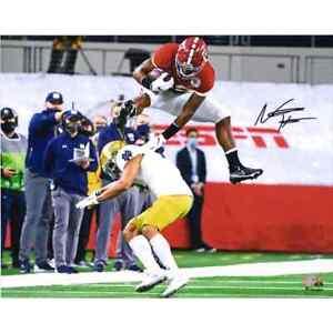 """Najee Harris signed 16"""" x 20"""" Hurdle Photograph Fanatics Authentic COA Alabama"""