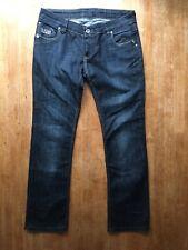 Womens Vintage G-STAR R33/01 Zip Fly Straight Blue Denim Jeans W 33 L 30 90s 00s
