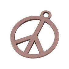 Peace Sign Charm/Pendant Tibetan Red Copper 14mm  30 Charms Accessory Jewellery