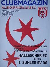 Programm 1997/98 HFC Hallescher FC - Suhler SV