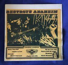 KISS Destroys Anaheim   Lp 33 Rare Unofficial Release Bootleg