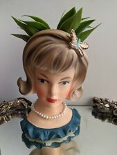 Vintage PARMA Lady Head Vase with Butterfly-Model#A-172- Japan-Repaired